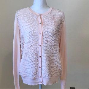 New York & Co Blush Pink Cardigan Sweater, XL